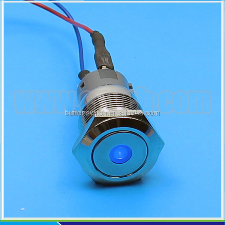 IN27 19mm 24v pilot lamp waterproof dot led ip67 metal indicator light