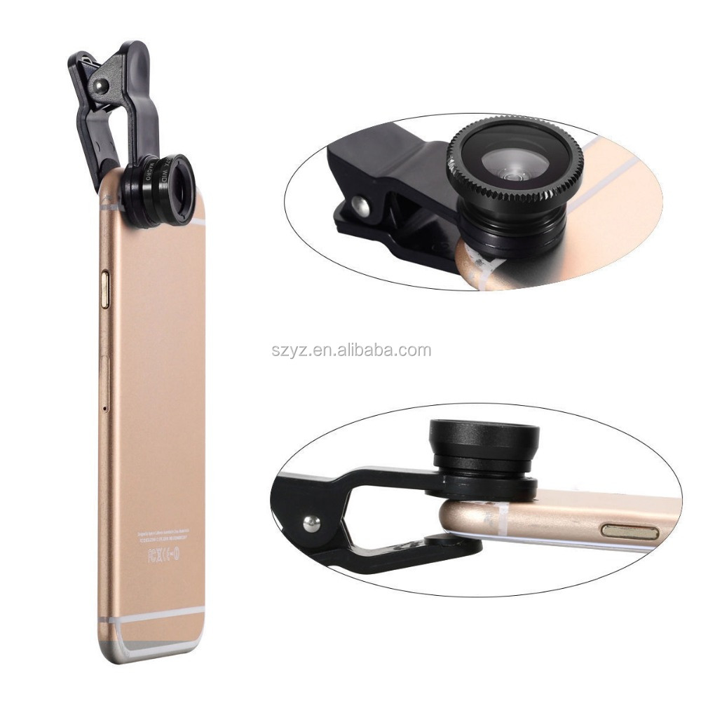 New Arrival mobile phone camera lens 180 degree super fisheye lens 20x macro 0.4x super wide Angle lens for smartphone