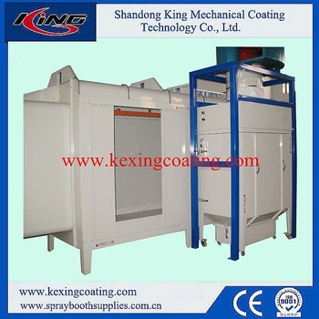 Quick color change powder coating spray booth