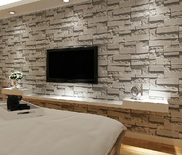 gestapelt ziegel 3d stein tapete modern wandverkleidung aus pvc rolle wallpaper mauer. Black Bedroom Furniture Sets. Home Design Ideas