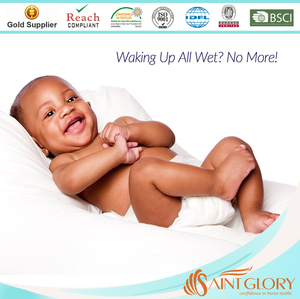 Waterproof White Crib Mattress Cover Moses Mattress Protector With TPU Waterproof Lamination With Pure Cotton Filling