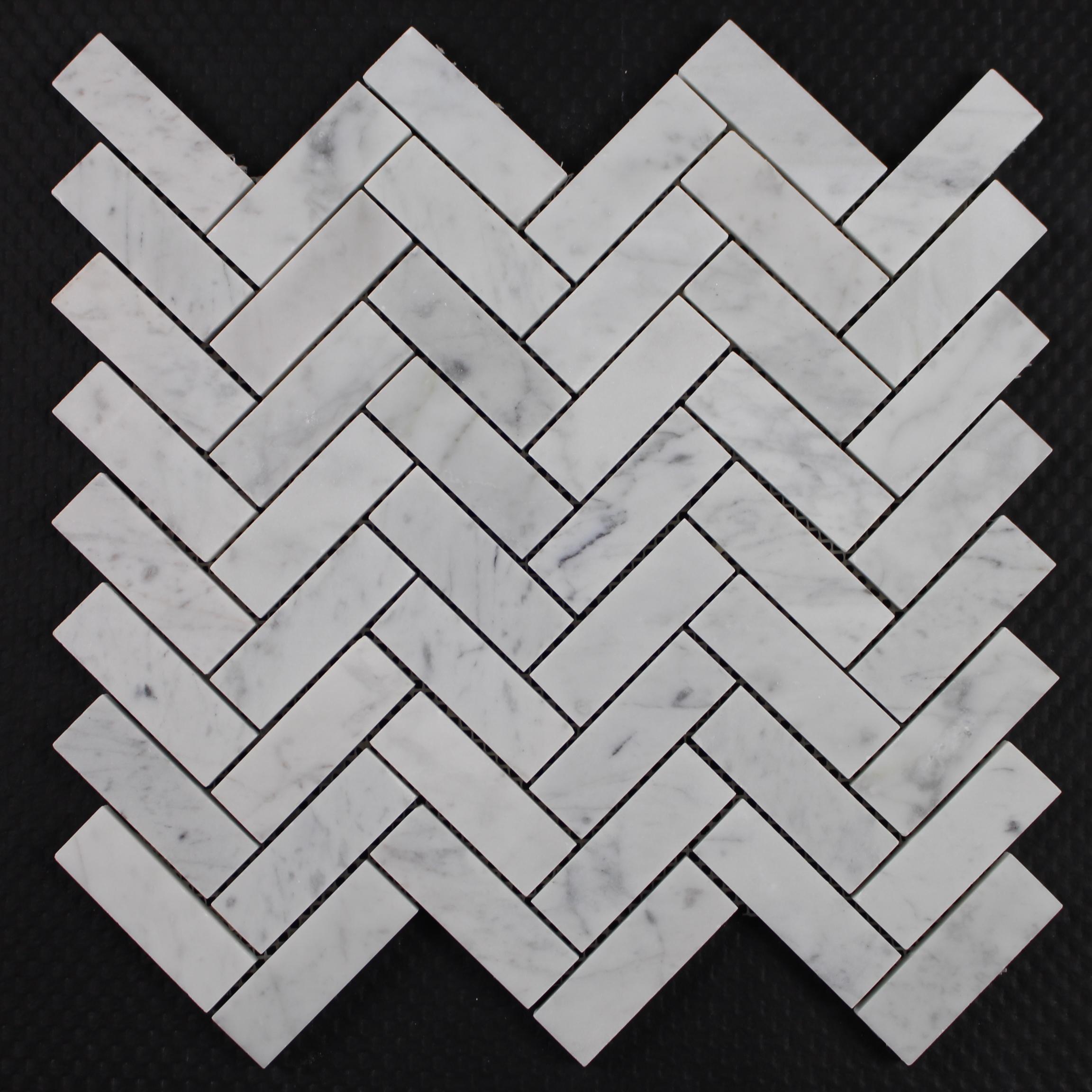 carrara wei mosaik marmor fischgr t backsplash fliesen. Black Bedroom Furniture Sets. Home Design Ideas