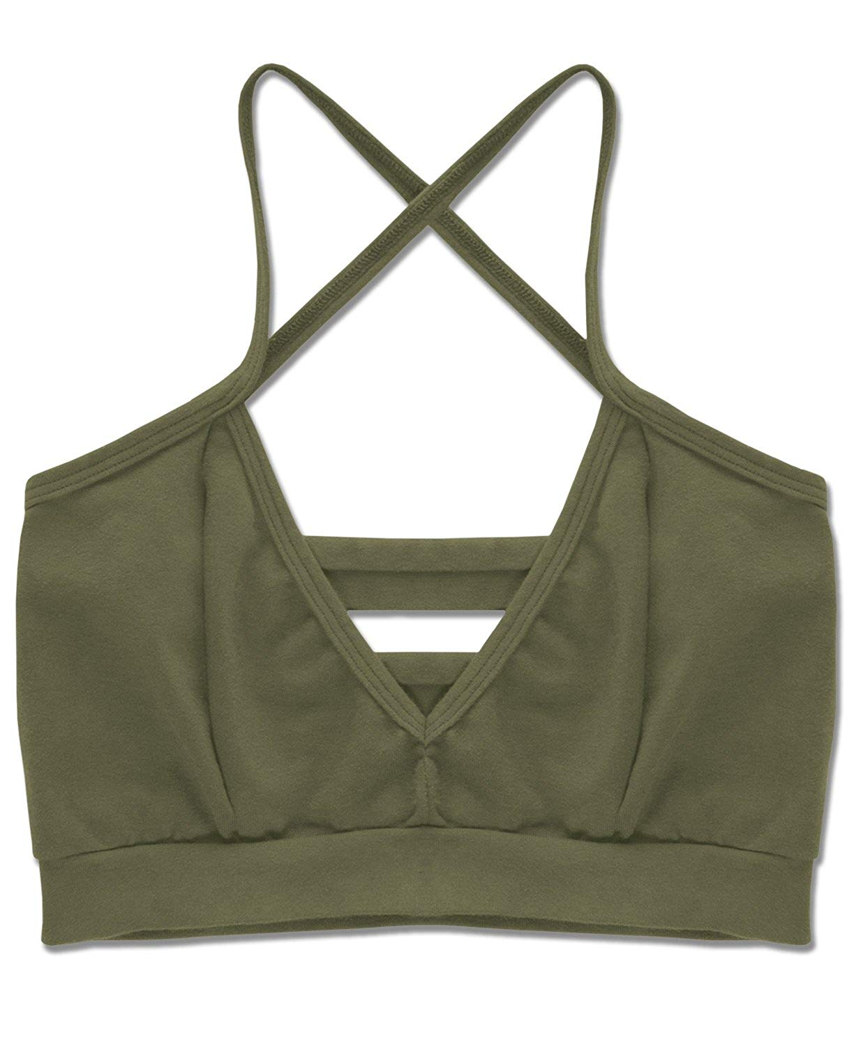 0ba2ae29bd58bc Get Quotations · Soul Flower Women s Organic Cotton Strappy Bralette