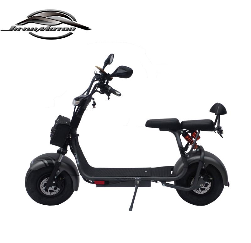 China Big Wheel 1000w EEC Electric scooter with 2 seat
