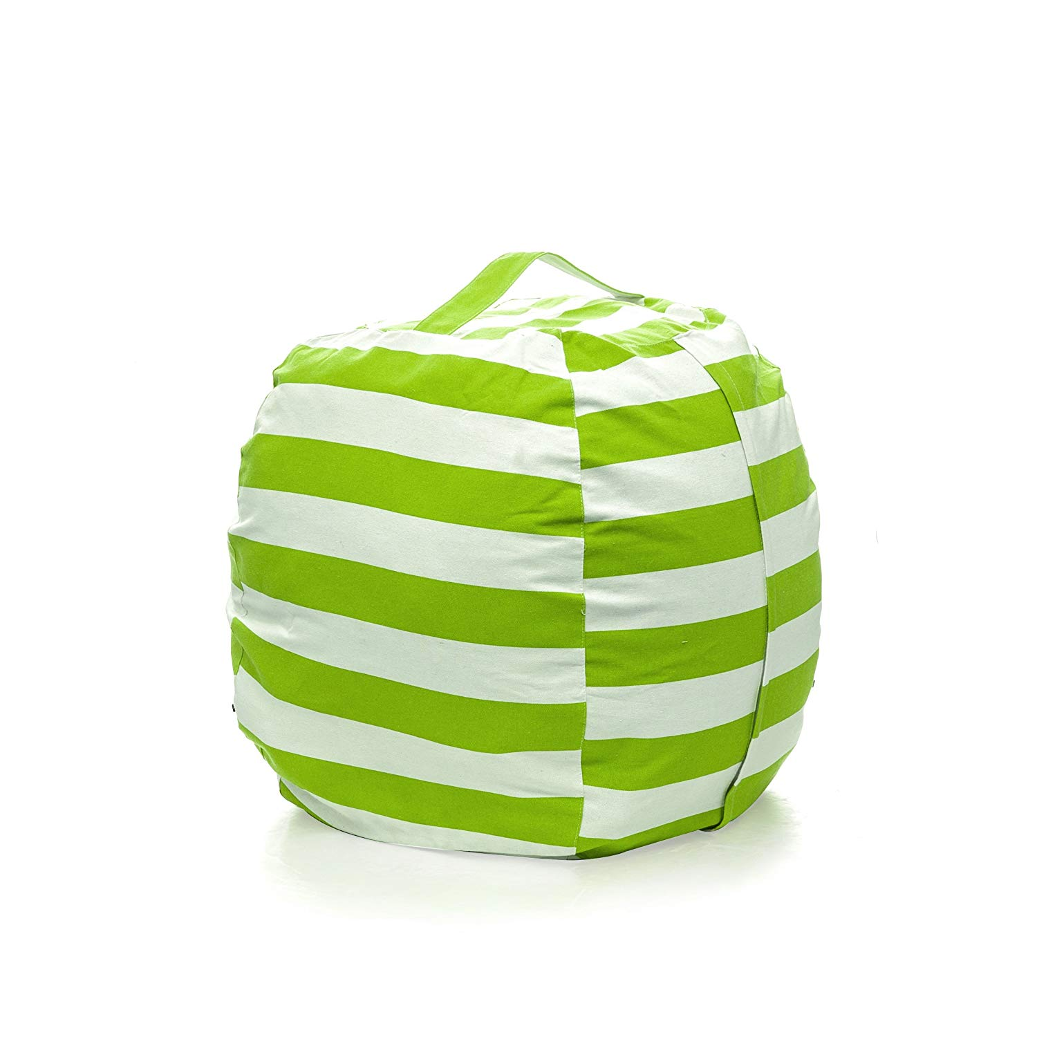 PJS-MAX Storage Bean Bag Chair for Kids - Stuffed Animal Chair Storage Bag, Jumbo Size Perfect for Soft Toys, Clothes, Blankets. 5 Colors Available (Green, Extra-large)