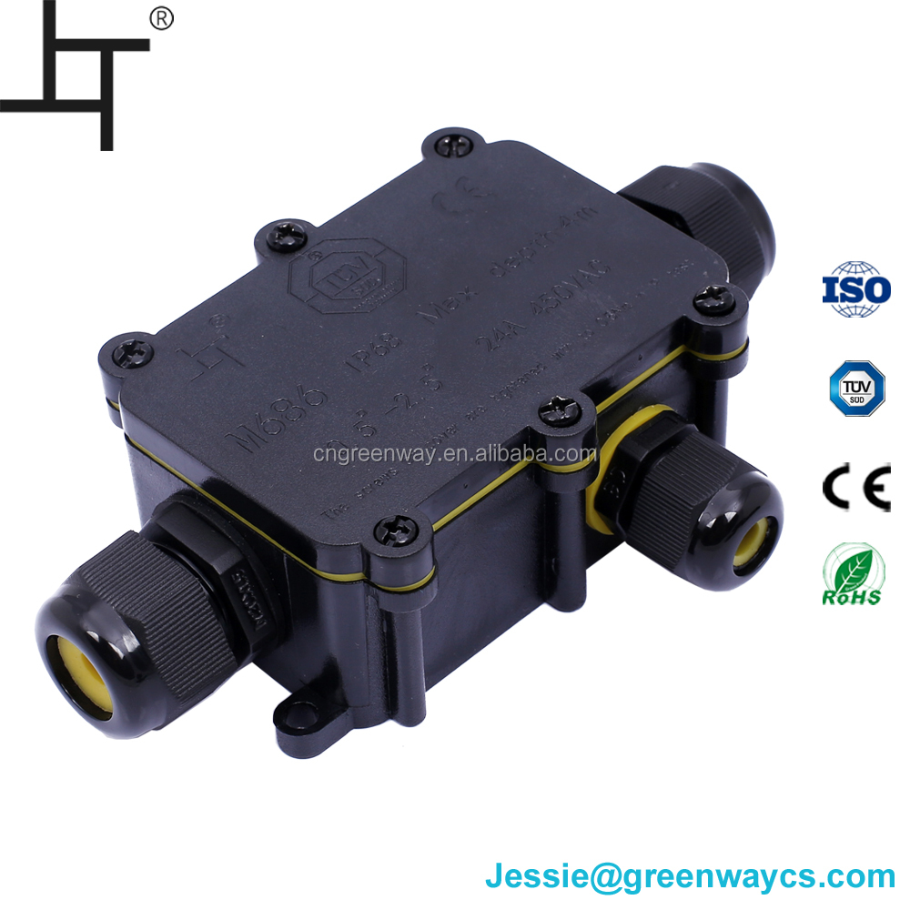 Waterproof Junction Box Cable Switch Wire Connection Case IP68 2 Way TW