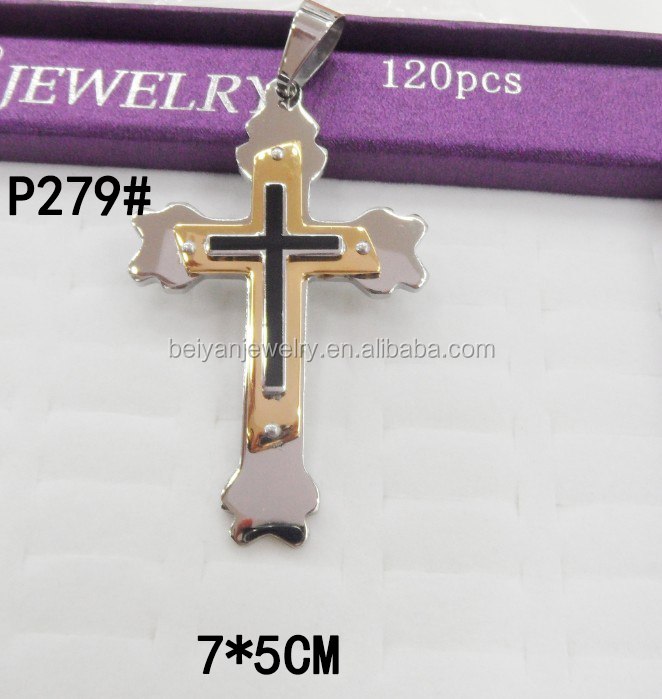 stainless steel pendant&stainless steel cross