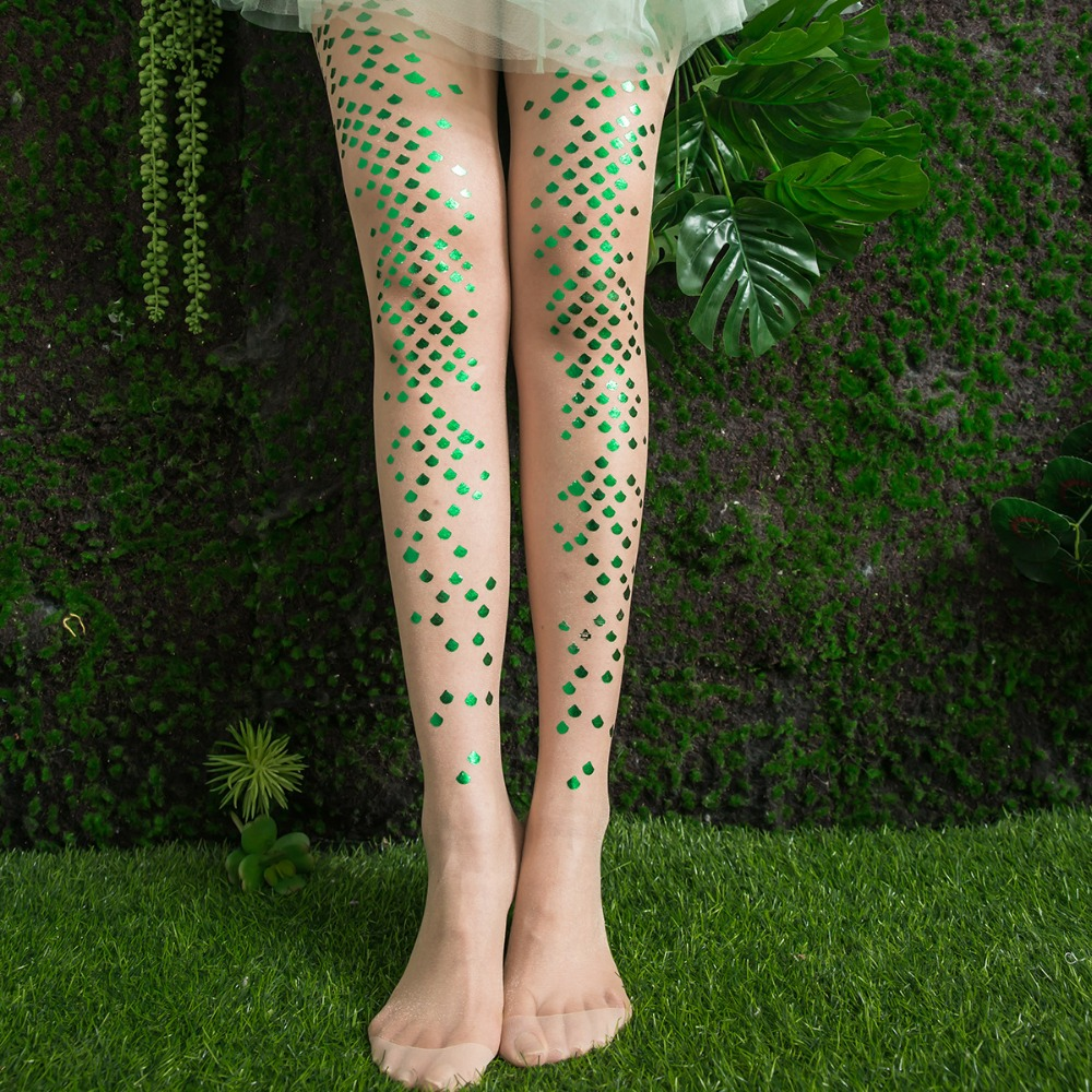 Gold Feet Mermaid Tights for Women the Original from Europe Sheer Transparent Pantyhose