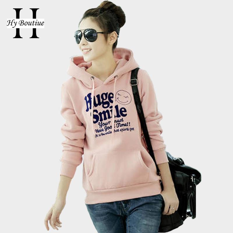 2d96e61b62c9 2015 Spring and Autumn Women Hoodies Long Sleeve Printed Huge Smile  Sweatshirt Female Hood Girl Outerwear