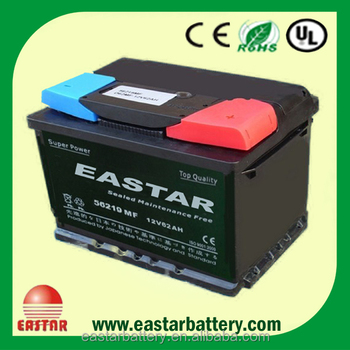 DIN62 mf 12v62ah car battery automotive battery