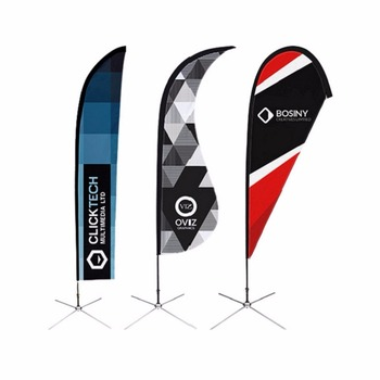 Promotional Portable Cheap Feather Flag Pole