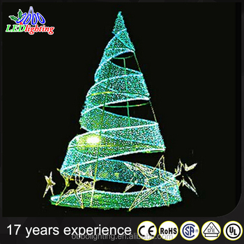 3d outdoor green metal lighted christmas trees - Spiral Lighted Christmas Tree