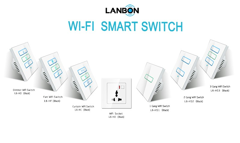 Touch Panel Remote Control Smart Home Wifi Switch Included