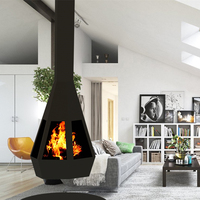 Suspended fireplace,suspended wood heaters