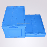 Foldable plastic logistic container with lid, plastic packaging boxes for sale