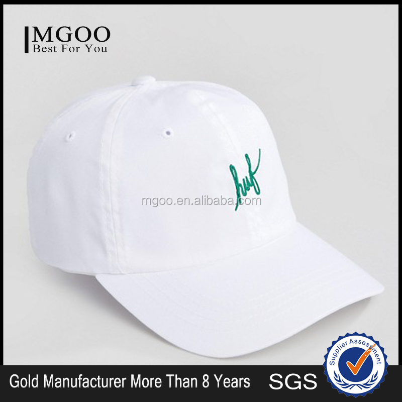MGOO New Arrival Mens White Caps With Logos Cheap Price Buttons Front Embroidery Logos Hats