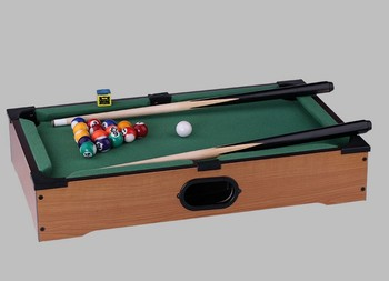 Mini Billiard Ball Snooker Tabletop Pool Table Top Desktop Game Set - Mini billiards table set