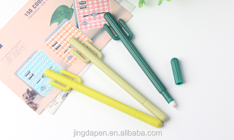 School stationery popular cute design plastic cactuses ballpoint pen
