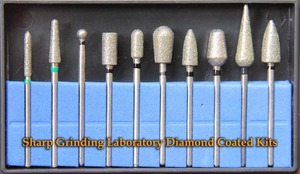 dental instruments sharp grinding laboratory diamond coated kits