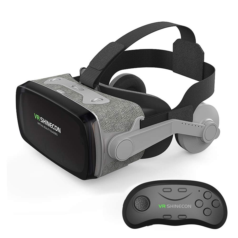 Humanized Multifunctional Virtual Reality Headset, HD Goggles VR Game 3D Movie Glasses VR Headset, Compatible with Most Smart Phone Sizes