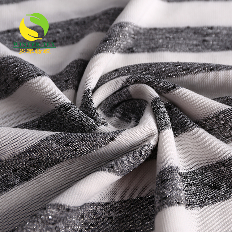 Low price stretch 100% polyester silk knit jersey fabric