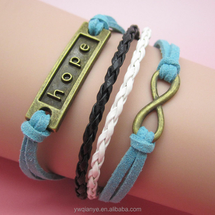 fashion jewelry kids Dynamic rope chain bracelet