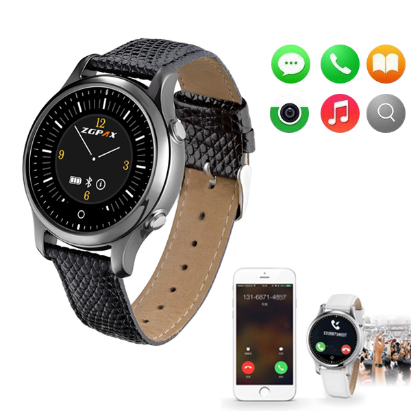 Wholesale 2015 New Bluetooth Watch ZGPAX S360 Mens Women Sports WristWatch Wearable Devices Smart Watch For IOS Android