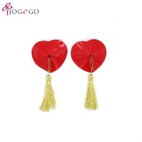2018sexy women shiny colorful stick on push up adhesive silicone sequin nipple pasties tassels