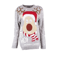 China Supplier Monogram Sasha Reindeer Sweater Christmas Jumper
