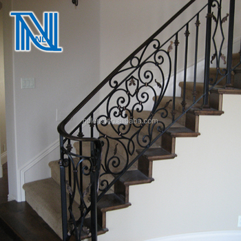 Wrought Iron Outdoor Stair Rail Design Unique Design High Quality