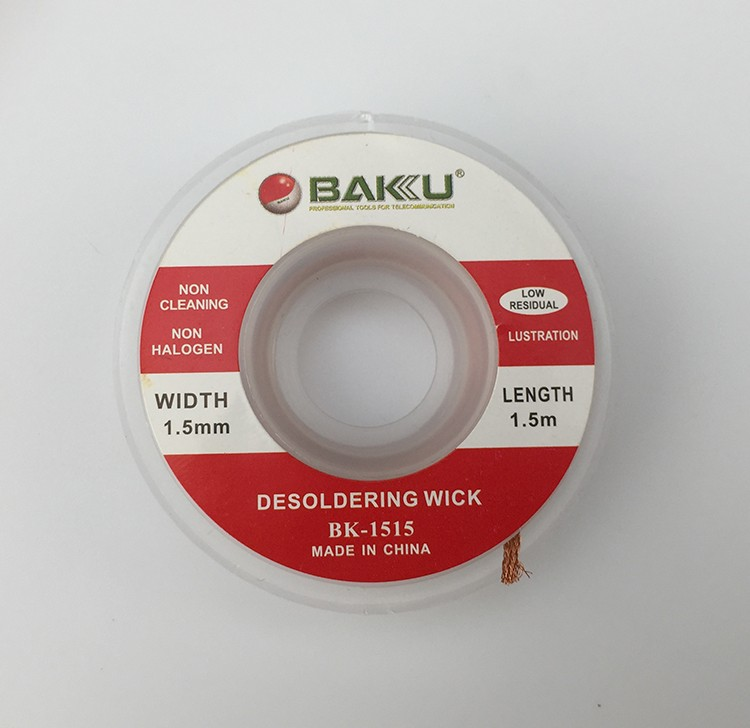 BAKU Wholesale BGA Desoldering Braid Solder Wick roll copper Remover Soldering Accessory desolder wire for Rework Repair