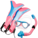 2018 Hot sell cheap fashion underwater scuba diving mask snorkel + diving flipper Combo wave snorkel set for kids children