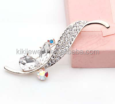 top selling beautiful silver ribbon brooch