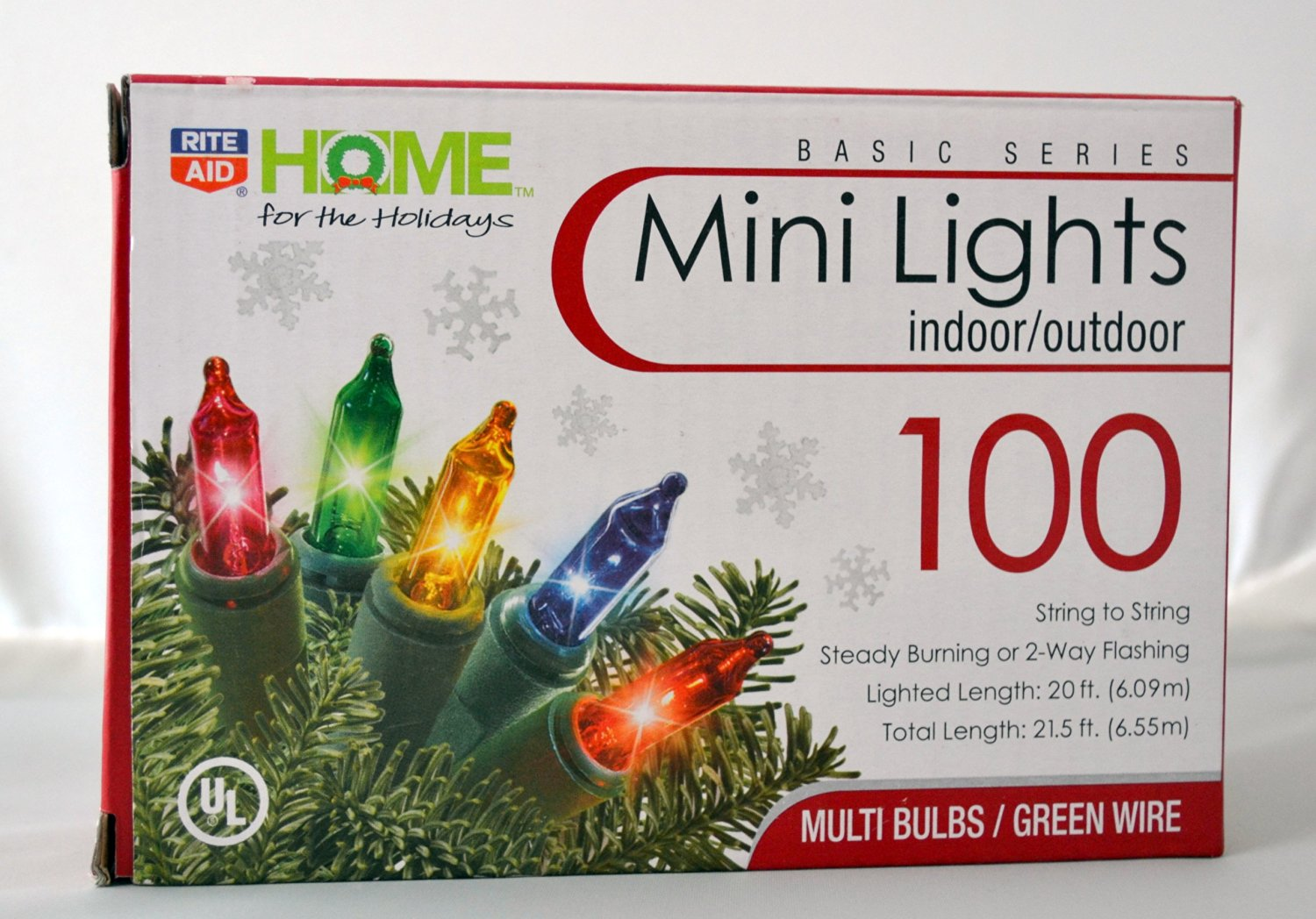 Rite Aid Home For The Holiday 100 Color Mini Lights Indoor/outdoor Nice Look