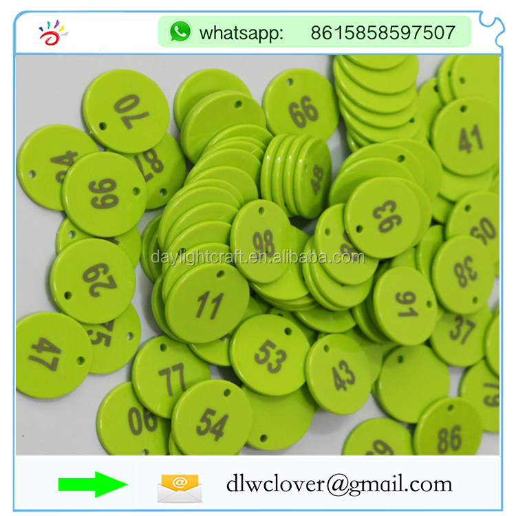 free shipping  US Plastic Token//Coins with Numeric Numbers  Pack of 100 Coins