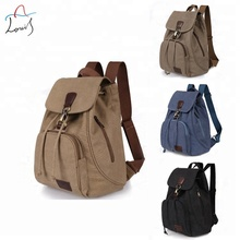 New retro tide girls outdoor canvas backpack fashion backpack satchel bag wholesale guangzhou