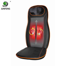 8 Heads 2 Buttons Electric Infrared Heating Kneading Neck Shoulder Back Body Car Chair Shiatsu Massager