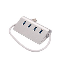 Super fast reversible aluminium 4 port high speed usb por hub powered usb 3.0 hub