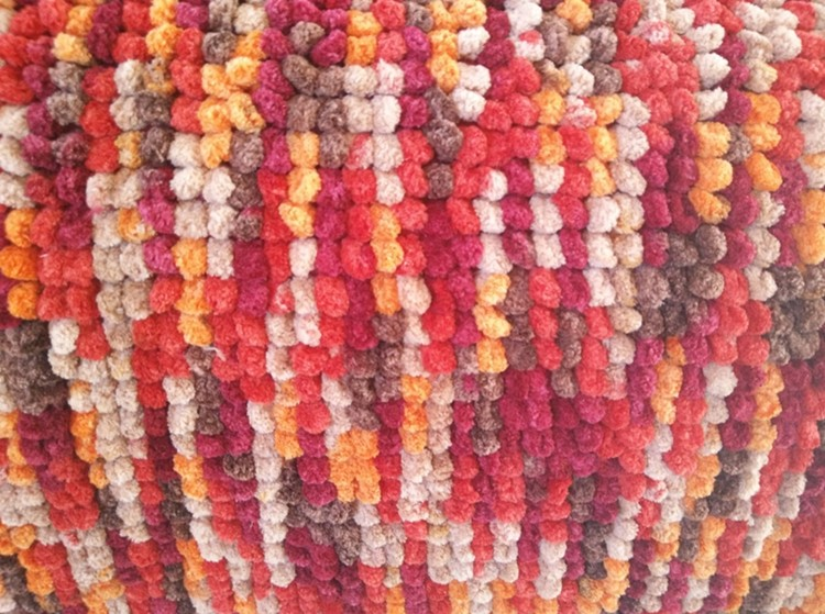 hot sell multicolored chenille rug