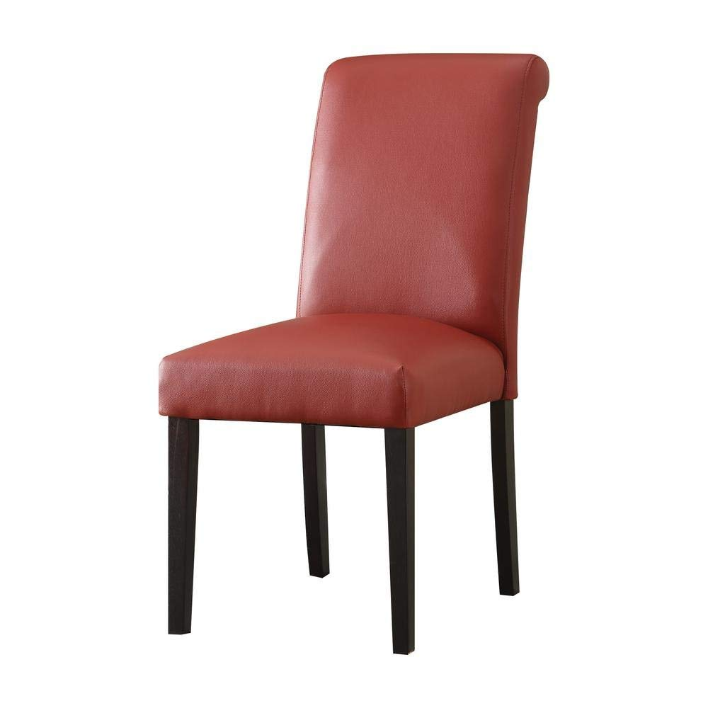 Major-Q Faux Leather Side Chair for Dining Room/Living Room/Office, Fine Wine Red 19 x 39 x 25