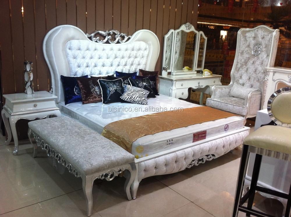 Diseño Adornado Serie Madera,Cama Tapizada Lujo King Size,Europea ...