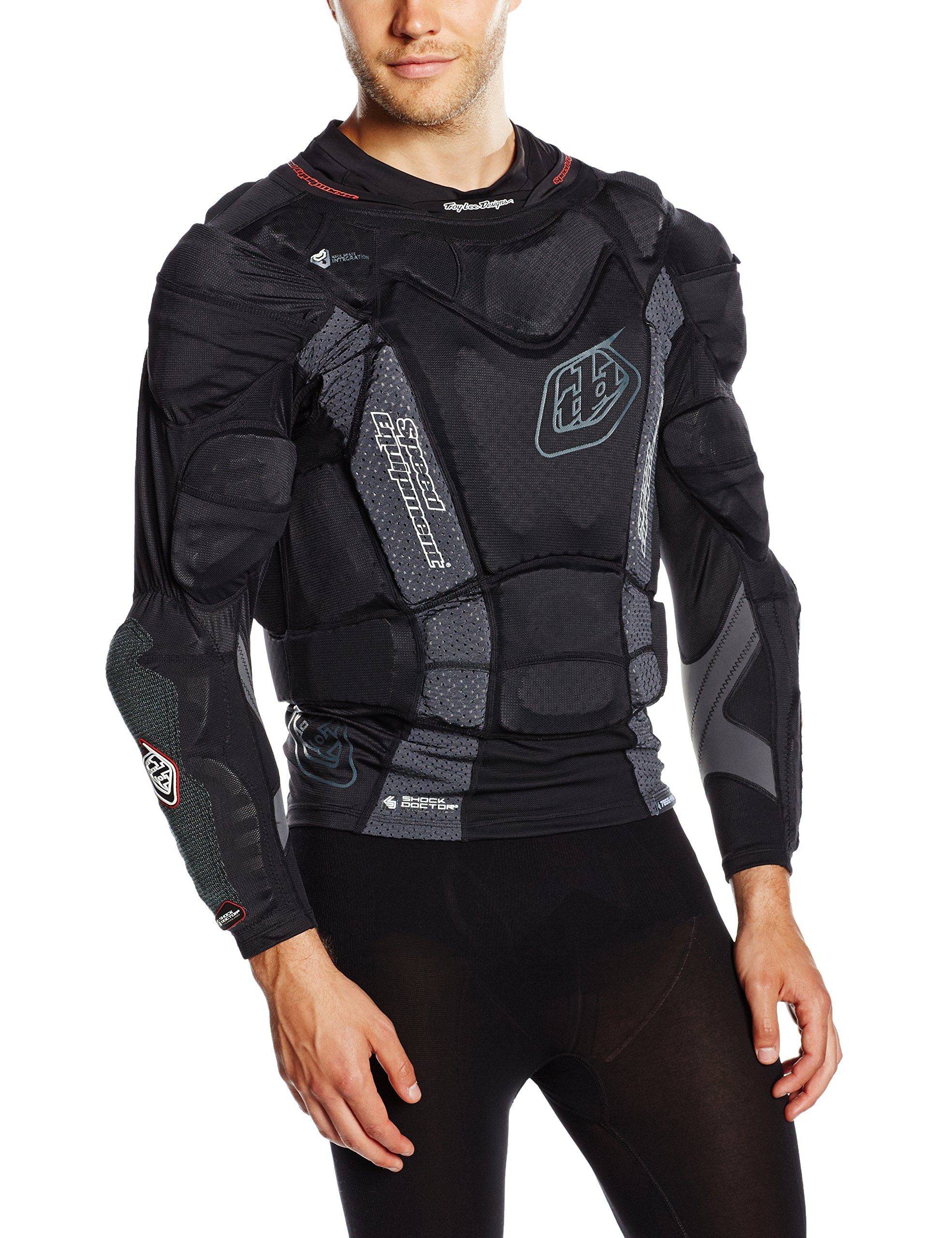 Troy Lee Designs UPL7855 HW Long Sleeve Boys Undergarment Off-Road Body Armor Black//Large