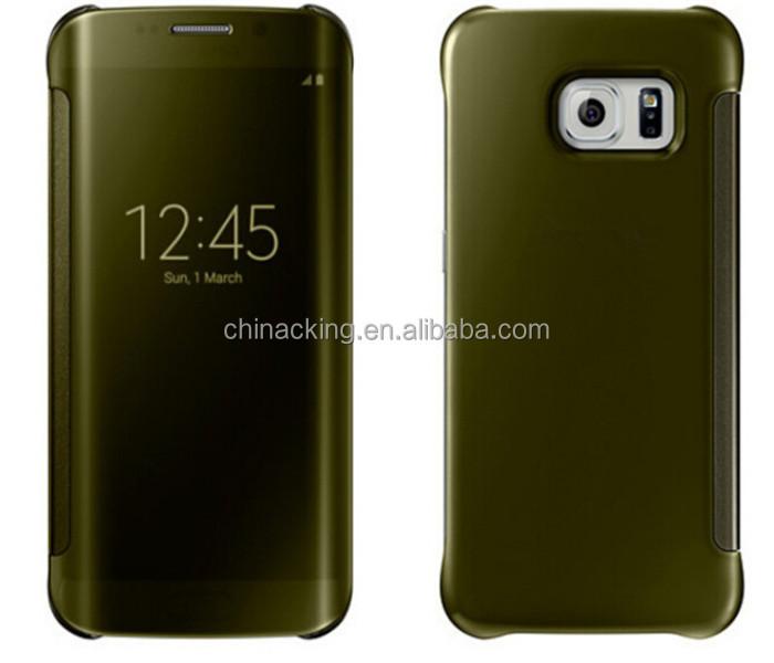 premium selection e672f dde40 Mirror Clear View Cover Flip Hard Case For Samsung Galaxy S6 Edge - Buy  Mirror Clear View Cover Flip Hard Case Product on Alibaba.com