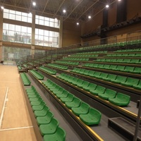 Customized telescopic seating retractable gym bleachers seating