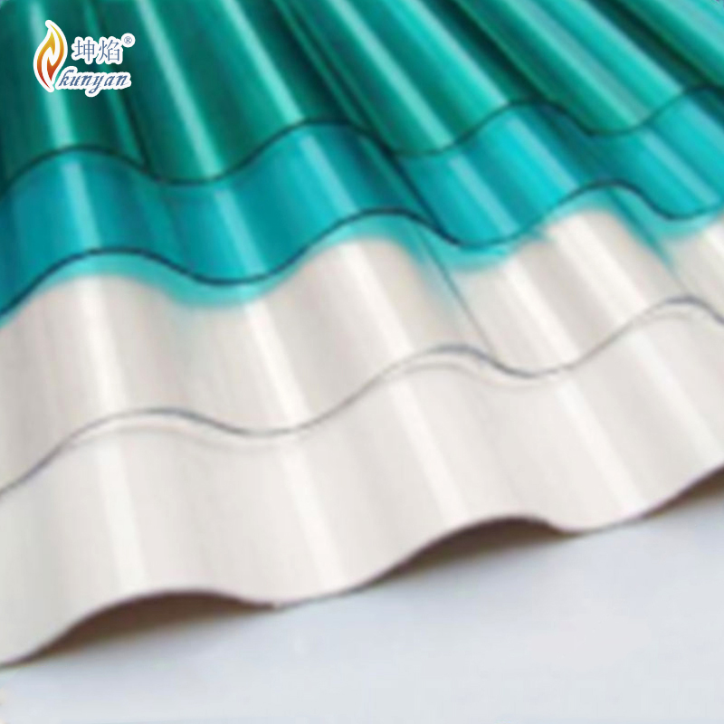 Customized polycarbonate corrugated sheet curved skylights
