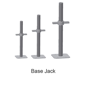 Screw Adjustable Solid Scaffolding Base Jack for Construction