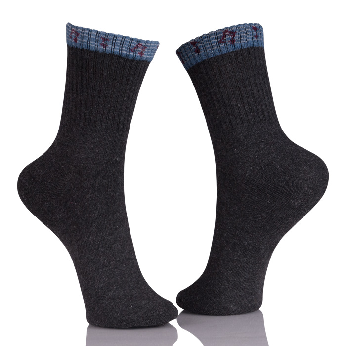 Anti-Foul Black Combed Cotton Socks Custom