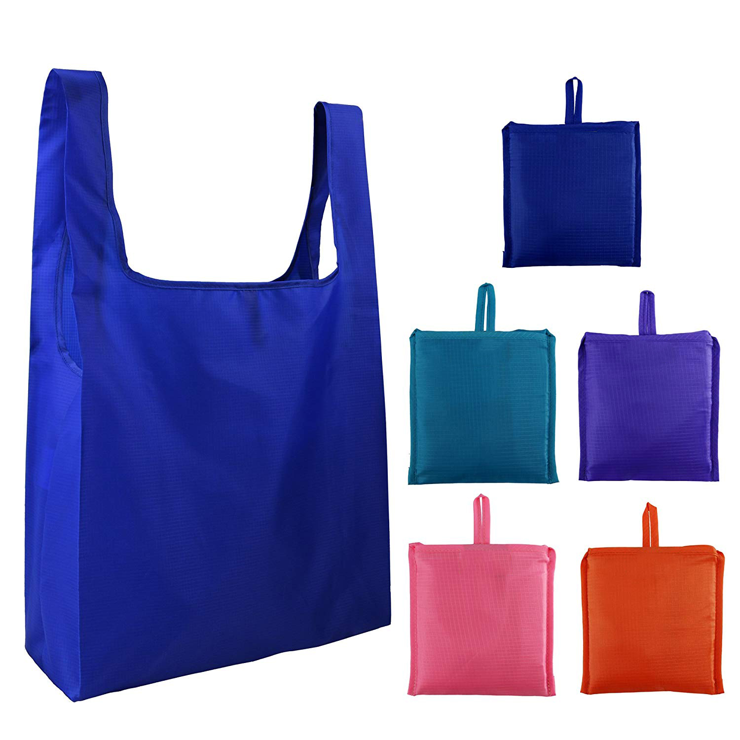 Washable Durable eco friendly waterproof grocery folding nylon foldable reusable shopping bag