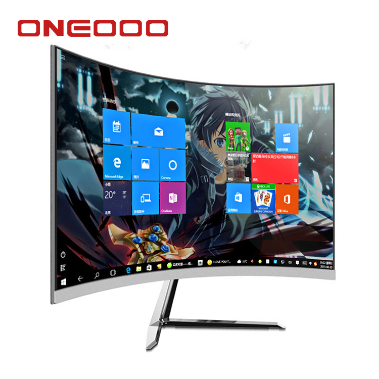 Guangzhou factory price all in one 4k curved LED display pc gaming