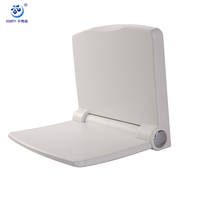 K9100 Soft-fall Folding Plastic Wall Mounted Shower Seat for Disabled and Seniors